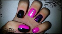 Love pink and black. My work