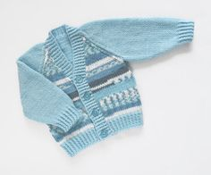 Baby Boys Surf's up Cardigan. Hand Knit by ACrookedSixpence