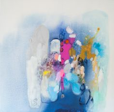 """Secret Heart"" by Claire Desjardins. 36""x36"" - Acrylics on canvas."