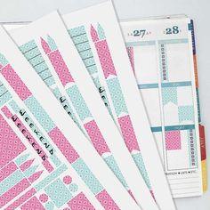 May Vintage Wallpaper Coordinating Planner Sticker Kit // Erin Condren Colors