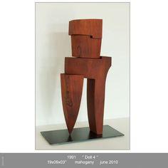Mahogany Sculpture - Pascal