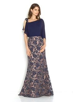 f37361423f67 Společenské tmavě modré šaty se zdobením na sukni Jora Mireya