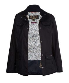 Navy Utility Liberty Print Jacket