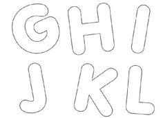 moldes de letras alfabeto em eva ghijkl