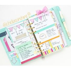 chellasunshine: Week I'm obsessed with the little ribbon bow clip and washi I used to decorate with. Kikki K Planner, Cute Planner, Planner Layout, Goals Planner, Planner Pages, Happy Planner, Planner Stickers, Planner Ideas, Washi Tape