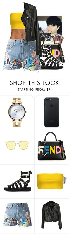 Untitled #2239 by txoni on Polyvore featuring Moschino, Paige Denim, MSGM, Fendi and Nixon