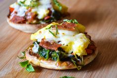 A crispy english muffin with topped with a tomato/spinach bruschetta, scrambled eggs, bacon and cheese. This Breakfast Bruschetta is super flavorful and so simple to make! Gearing up to celebrate National Bacon Day on August 20th in the tastiest of ways! This post is recently updated and recipe is slightly adjusted from the original post written in April 2010. ...Read More »