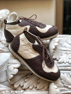 Pinatex ribbon tweed shoes ribbon shoes pineapple leather size EU 36 in stock pinatex shoes vegan shoes women vegan shoes