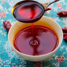 to Make Chinese Red Oil (Difficult Version) Homemade Chinese Chili oil with two methods. Perfect seasonings for your spicy sauces.Homemade Chinese Chili oil with two methods. Perfect seasonings for your spicy sauces. Chutneys, Hot Pot, How To Make Chili, Making Chili, Chinese Chili Oil, Dressings, Asia Food, Dips, Asian Recipes