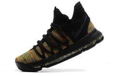 online retailer ddf66 2cfda High Quality Nike KD 10 Multicolor Black-Volt - Mysecretshoes