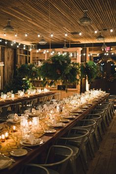 winter wedding reception, photo by Lauren Fair Photography http://ruffledblog.com/terrain-winter-wedding #reception #wedding #winter