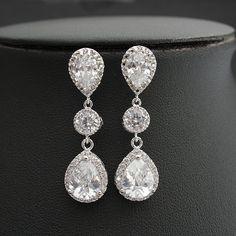 Bruids Earrings Jewelry Crystal bruiloft van poetryjewelry op Etsy
