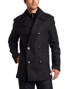 Kenneth Cole Reaction Mens Plush Peacoat With « Clothing Impulse