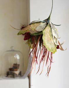 Patricia Chemin - sculptures en papier de soie Portfolio : A fleur de livre