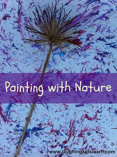 Painting with Nature Craft #ArtsAndCrafts #KidsCrafts #Crafts #DIY #EarthDay
