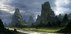 Feng Zhu is an amazing concept artist most famous for his work on the 3 newer Star Wars films. I love his work, and especially love his tutorial videos. Go to his site to check them out, they're free!