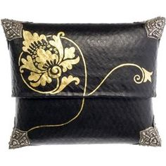 Gold Lotus Box Clutch     by Lotus Arts de Vivre