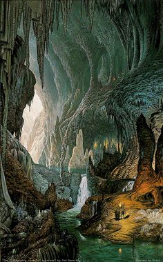 The Glittering Caves of the Hornburg in Helm's Deep, by Ted Nasmith