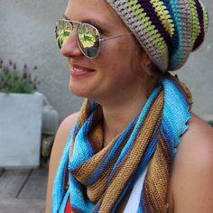 Summer life #madebymomee,#knittedshawl,#hitchhickershawl,#crochetbeanie,#crochet,#handmade