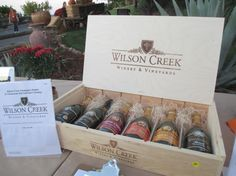 Donated flight of wines by Wilson creek for ONF auction for autism