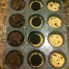 best cookie/brownie ever!!  bake at 350 mix cookies, oreos, then brownies on top for 18 minutes!