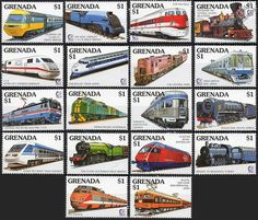 1995 Grenada Trains OF THE World Locomotive Railway Stamps Mint MNH | eBay