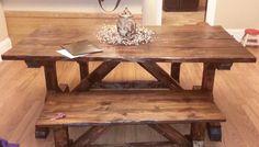 Genial Rustic Farm Table And Bench Set Handcrafted By Floyd Flips U0026 Finds In  Floyd, Virginia