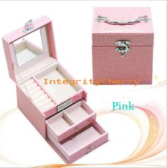 Comestic Case Jewelry Watch Holder Makeup Storage Carry gift Box Train Organizer