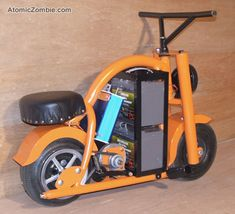Sparky packs a lot of fun in those batteries and electric parts. Electric Dirt Bike, Electric Car Concept, Electric Go Kart, Electric Cars, Trike Bicycle, Old Bicycle, Build A Go Kart, Go Kart Plans, Old Washing Machine