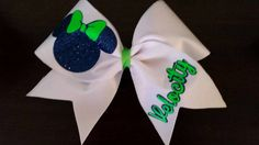 Hey, I found this really awesome Etsy listing at https://www.etsy.com/listing/214455842/minnie-mouse-inspired-cheer-bow-with