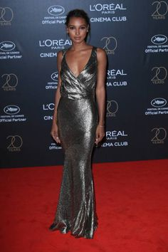 Jasmine Tookes attends the Gala 20th Birthday Of L'Oreal In Cannes during the 70th annual Cannes Film Festival at Hotel Martinez on May 24 2017 in...