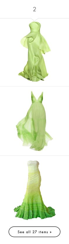 """2"" by m-aigul712 ❤ liked on Polyvore featuring dresses, gowns, long dress, lela rose evening gowns, long green dress, green ball gown, green evening gown, lela rose, long dresses and satinee"