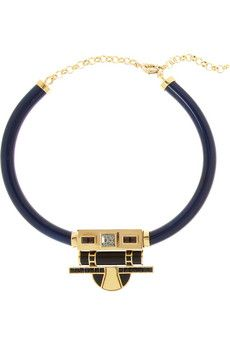 Etro + V&A gold-plated, Swarovski crystal and resin necklace | NET-A-PORTER