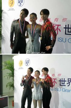 With Tatsuki Machida and Mao Asada(JAPAN) Medal Ceremony : Cup of China 2012