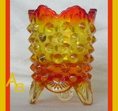Amberina Glass Toothpick/ Match Holder  Fenton by AtticBasement, $13.00 I have the blue one of these (it was my grandmas), and would love one in another color!