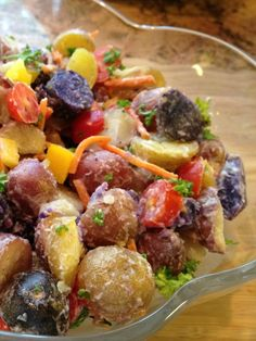 Colorful Potato Salad. This colorful salad just looks fancy but it is easy and delicious