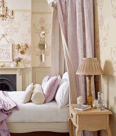 Home Decor + Pale Shades of Lilac and Natural Beige by Laura Ashley + Cool Chic Style Fashion