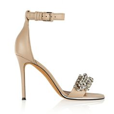 Givenchy Monia leather sandals with crystals, Women's, Size: 40 (2.165 BRL) ❤ liked on Polyvore featuring shoes, sandals, heels, givenchy, givenchy sandals, givenchy shoes, leather heeled sandals, leather shoes and real leather shoes