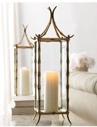 Asian inspired lanterns/ Horchow