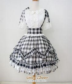 ✨✨ #LolitaUpdate: Elegant [-★-Sweet Gingham-★-] Lolita High Waist Skirt
