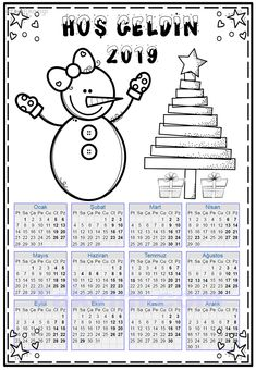Easy Crafts, Calendar, Education, Handmade, Free Coloring Pages, Hand Made, Life Planner, Onderwijs, Learning