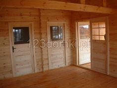 Domek letniskowy 8×7 – Producent domów i domków drewnianych letniskowych Garage Doors, Outdoor Decor, Room, Furniture, Home Decor, Bedroom, Decoration Home, Room Decor, Rooms