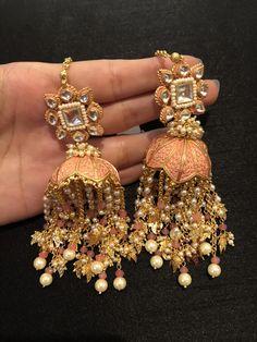 Silver Gingko Earrings - Gingko Leaf Dangle Earrings - Bridesmaids Gift - Wedding Jewelry - Gift for Women - Nature Lover - Leaf Jewelry - Custom Jewelry Ideas Indian Bridal Jewelry Sets, Indian Jewelry Earrings, Jewelry Design Earrings, Ear Jewelry, Silver Jewelry, Bridal Jewellery, Silver Ring, Sparkly Jewelry, India Jewelry
