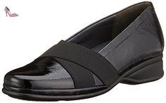 Semler Ria, Mocassins Femme, Noir-Noir (001), 40 2/3 EU - Chaussures semler (*Partner-Link)