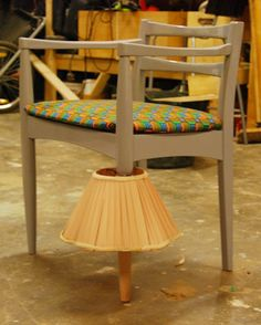 Reworked and Upcycled chair by Yinka Ilori