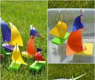 Sponge sailboat Craft for kids