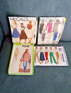 Vintage womens sewing patterns lot of 4 McCalls 9334