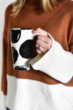 No better way to start the day than with a Coton Colors ceramic mug. Pour yourself a generous cup of coffee, tea or hot chocolate in one of our vibrantly designed mugs. Coton Colors, Dinnerware, Pantry, Scale, Dots, Silhouette, Glamour, Coffee, Modern