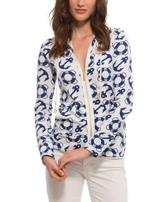 This Marina Nautical Zip-Up Hoodie by Macbeth is perfect! #zulilyfinds