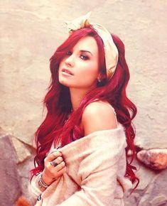 demi lovato-red hair